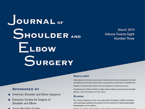 Portada de la revista J Shoulder Elbow Surg. 2019 Mar.